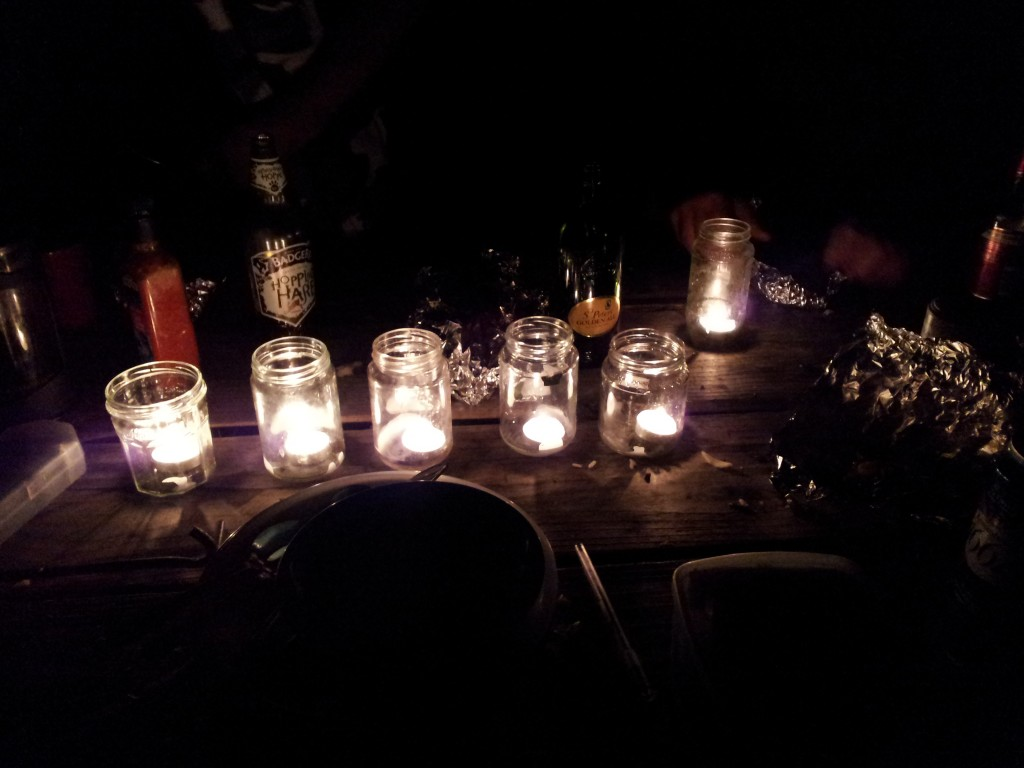 Candle light in the hearth